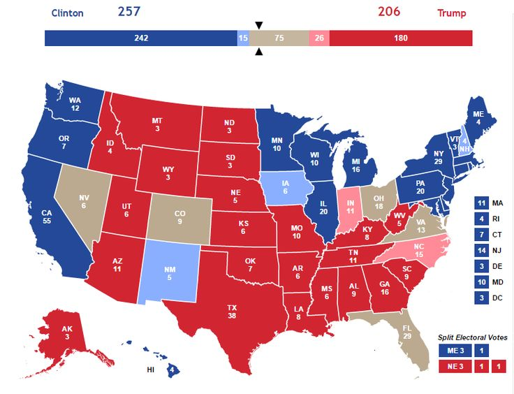 Map Of Us With States Won By Trump Globalinterco - Us states map polls