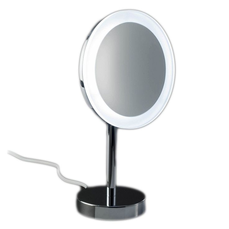 Gorgeous modern high end luxurious illuminated plug in free standing  countertop magnifying mirror in102 best Elegant High End Modern Luxurious Magnifying Mirrors  . Plug In Vanity Mirror. Home Design Ideas