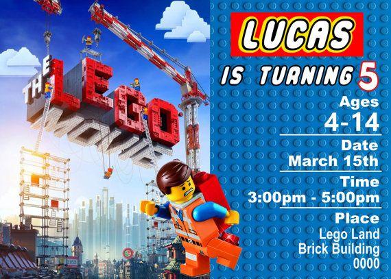 Lego Einladungskarte