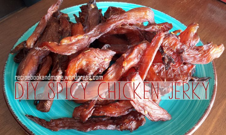 Spicy Chicken Jerky Recipe - so much cheaper than storebought ingredients - Lean healthy snack