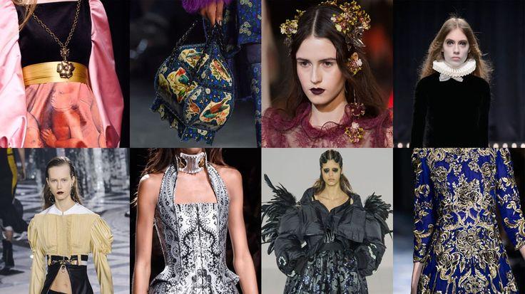 A mulher renascentista - Uma das tendências mais fortes do Outono/Inverno 2016 - Stylo Urbano #moda #tendências #inverno2016 #marchesa #Valentino #renascimento