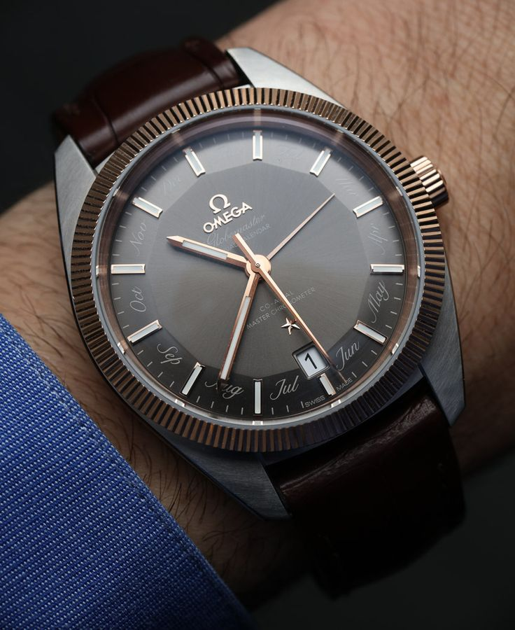 Hands-on review & original photos of the Omega Globemaster Annual Calendar watch for Baselworld 2016 with price, background, specs, & analysis.