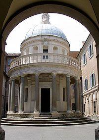 Donato di Pascuccio d'Antonio o Donato di Angelo di Antonio, conocido como Bramante (Fermignano, c. 1443/1444 - Roma, 1514) fue un pintor y arquitecto italiano, que introdujo el estilo del primer Renacimiento en Milán y el «Alto Renacimiento» en Roma, donde su obra más famosa fue el planeamiento de la Basílica de San Pedro.