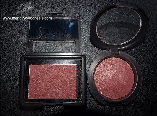 MAC Blush in Gleeful, and ELF Blushing Rose dupe!