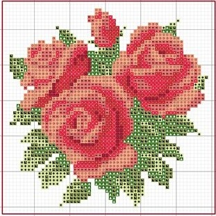 free cross stitch chart. I sooooo want to this in rainbow colors!