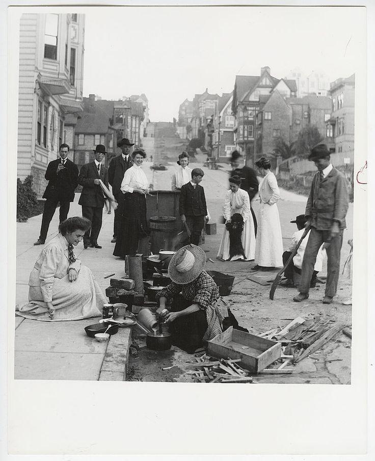san francisco earthquake street scene 1980s 1906 california press iconic