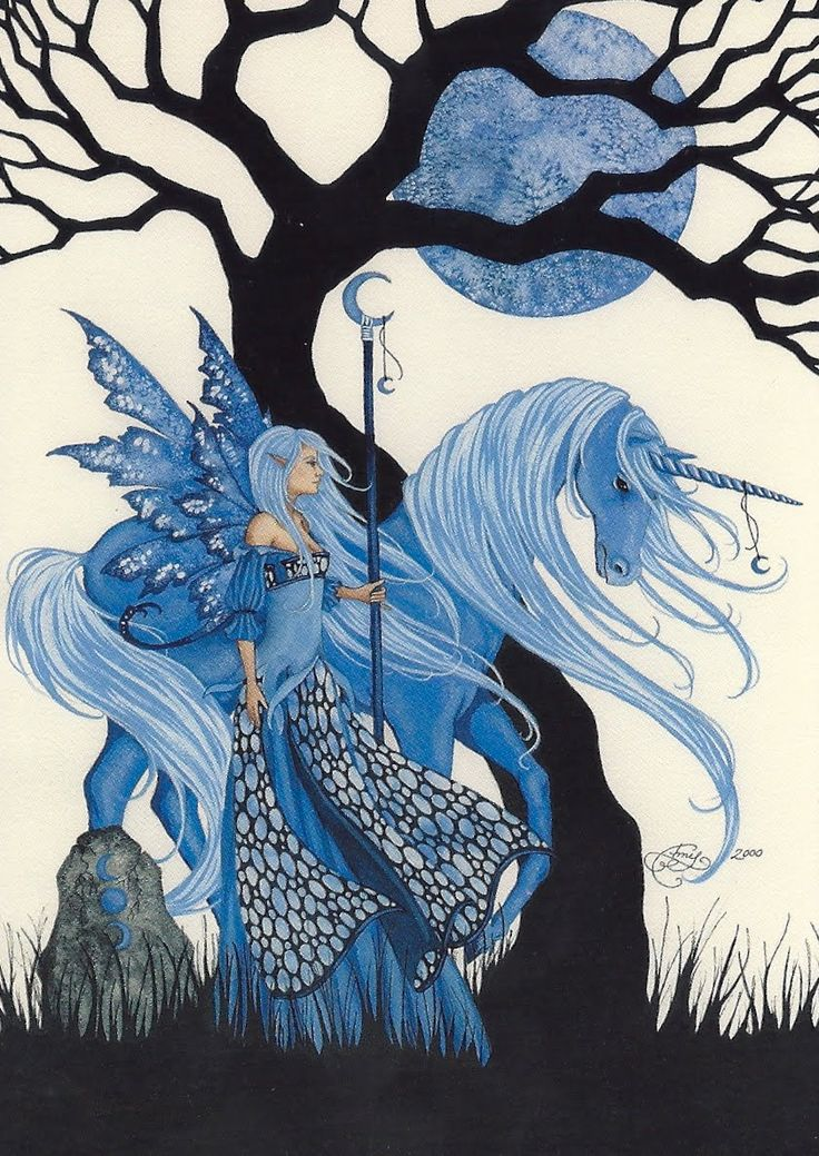 9teen87's Postcards: Fairy and Unicorn Art by Amy Brown