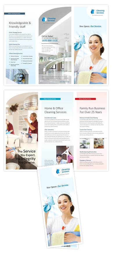 16 best Tri-fold Newsletters Brochures images on Pinterest - cleaning brochure template