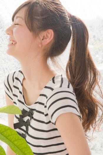 cute ponytail! 劇的可愛い!トップをふんわり、こなれポニーテールの作り方♡|MERY [メリー]