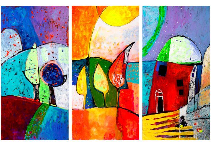 Obraz malowany 120x80 Abstrakcja 93524 - artgeist - Obrazy akrylowe #painting #paint #art #abstract