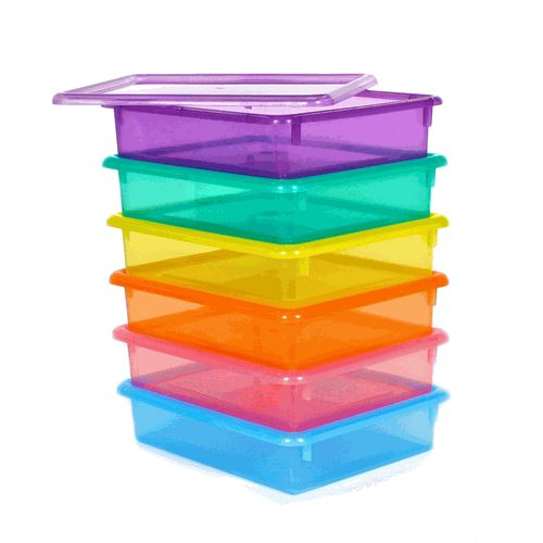 Letter Size Colored Plastic Storage Containers Classroom