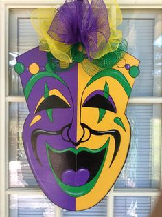Hey, I found this really awesome Etsy listing at https://www.etsy.com/listing/261019566/mardi-gras-door-hanger