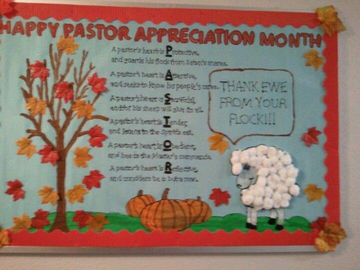 Pastor Appreciation Bulletin Board