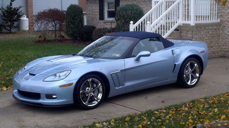 2012 Carlisle Blue Corvette Grand Sport Convertible