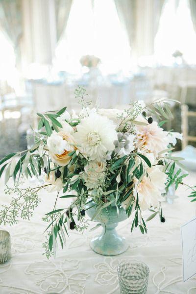 Pretty florals: http://www.stylemepretty.com/little-black-book-blog/2015/01/13/elegant-ashford-estate-ballroom-wedding/ | Photography: Kay English - http://www.kayenglishphotography.com/