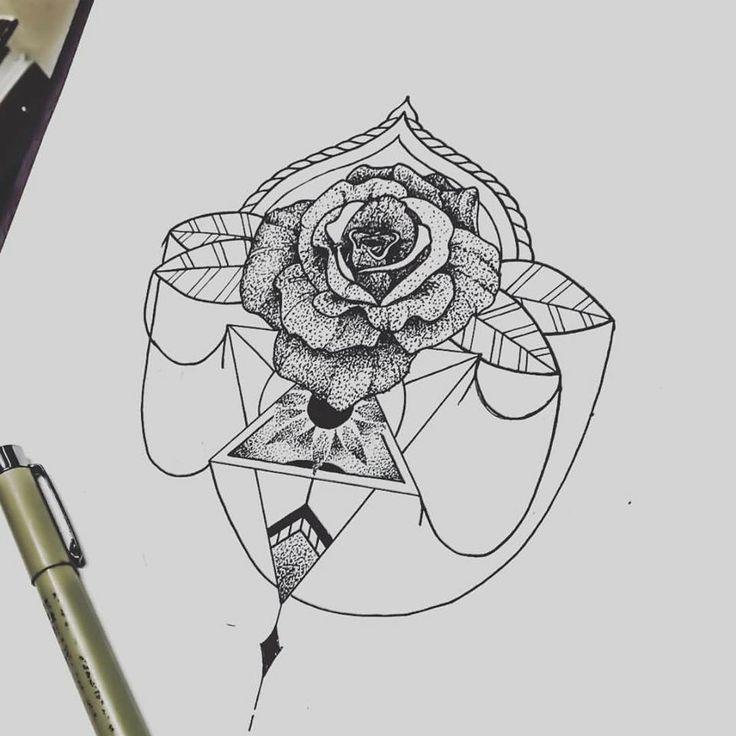 #blackwork #dotwork #jimmybct #cyphertattoo #rose #geometry #ct #tattoo #idea #drawing