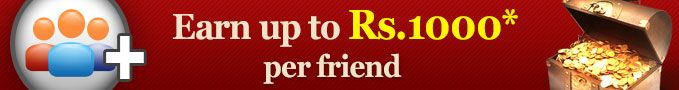 Bring-A-Friend: Bring your friends to RummyCircle.com to #Play #Rummy and earn upto Rs. 1000 per friend!!