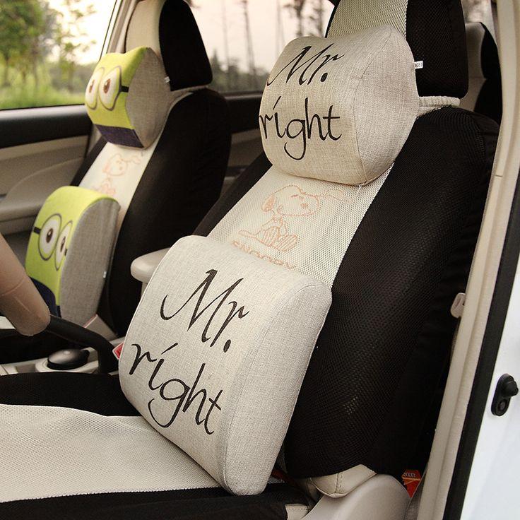 Cartoon Memory Foam Neck Pillow Car Seat Pillow Winter Car Headrest Memory Foam Auto Supplies Neck Pillow Auto Safety Cushion #Affiliate