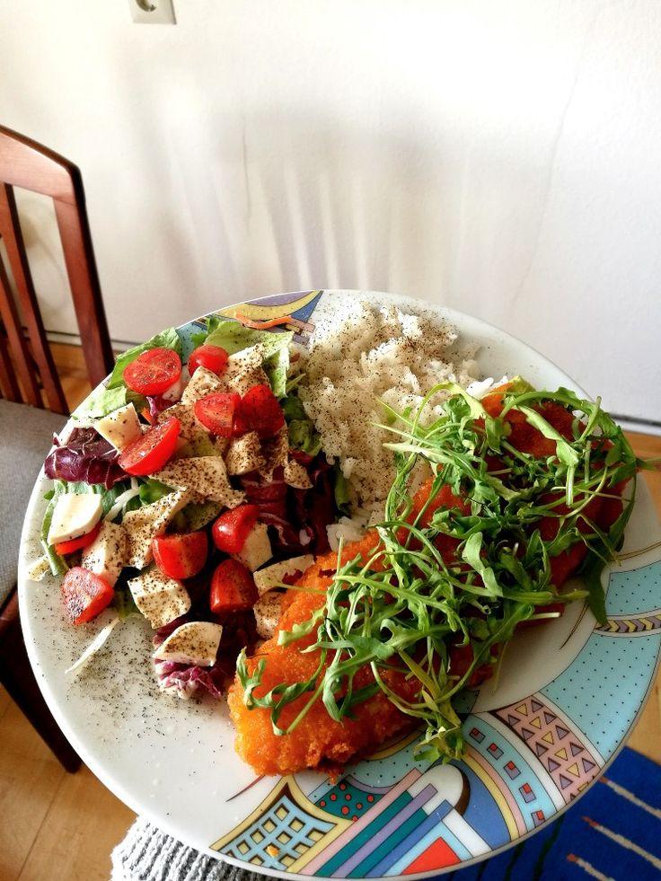 Ebédre megint hal és zöldségek :)