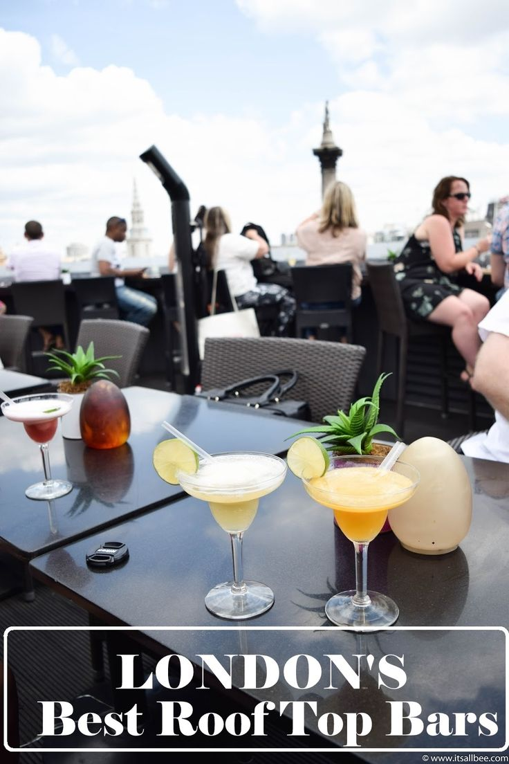 Summer in London is know for being sketchy so when the sun is out its time to kick your shoes of, put on some sandals and head for London's best roof top bars.   Sushisamba, Aqua, Franks Cafe, Dalston Roof Park, Queen of Hoxton, Roofnic, Radio Rooftop, Coq D'Argent Bank