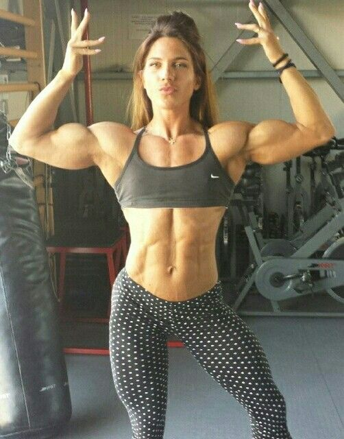 Sexy muscle girls in costume