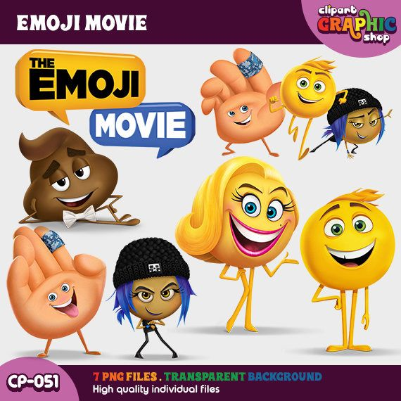 The Emoji Movie Clipart, eMOJI Instant Download, Png, The Emoji Movie Printable, CP-051 by ClipartGraphicShop on Etsy