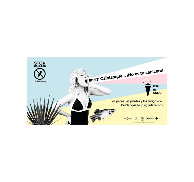 Playas limpias de colillas. CAMPAÑA STOP COLILLAS CALBLANQUE Campaña concienciación Stop Colillas Calblanque