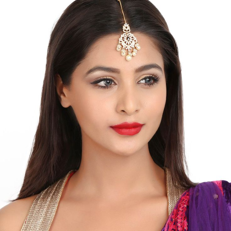 Zircon Tikka 55952B #Kushals #Jewellery #FashionJewellery #IndianJewellery  #WeddingAccessories #Maang Tikka #Zircon
