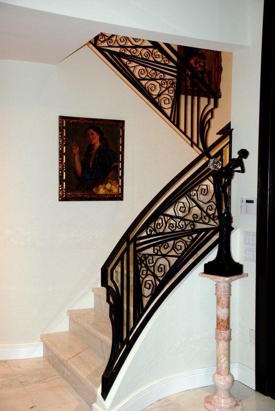 Stunning Wrought Iron Railing Art Deco Home Decor