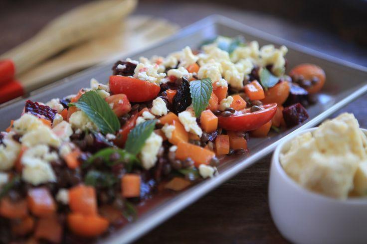 Lentil Feta and Pumpkin Salad #tenina #thermomix #vegetarian #newbook #glutenfree