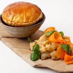Paul Foster provides a simple and homely steak and ale pie recipe, complementing the pie with celeriac and carrots