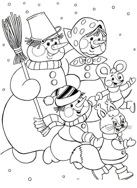 10 best Coloring pages Winter images on Pinterest Coloring