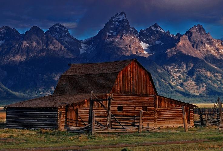 mountainous barn