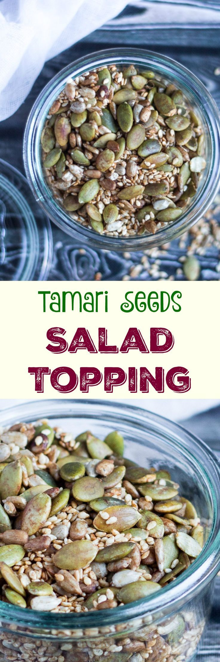 Tamari Seeds Salad Topping. Add a savoury crunch to a simple green salad.