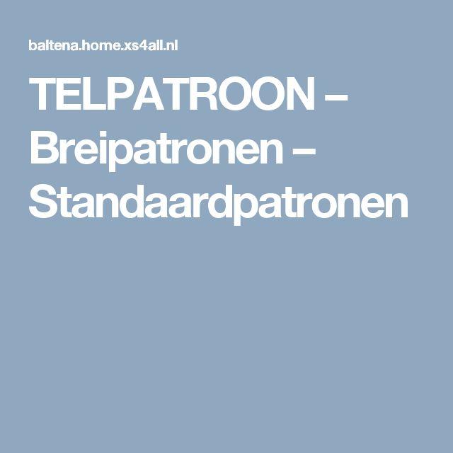TELPATROON – Breipatronen – Standaardpatronen