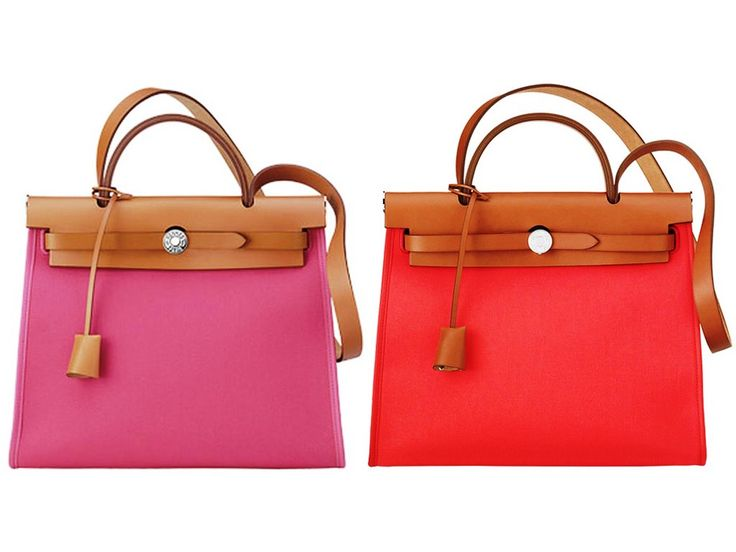 Hermes Pink and Red Herbag Zip 31 Bag | Hermes | Pinterest ...