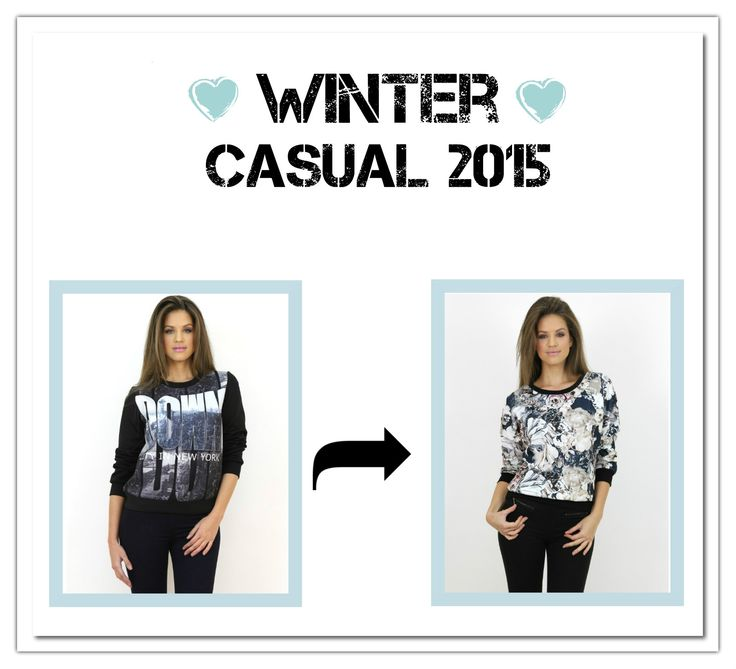 Chic #floral printed and personalized #jumpers at www.famevogue.ro...<3  #winter #trends #style #fashion #casual