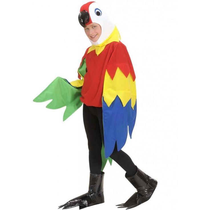 CHILD DELUXE PARROT BIRD ANIMAL TROPICAL JUNGLE FANCY DRESS COSTUME KIDS 5-13 YR | eBay