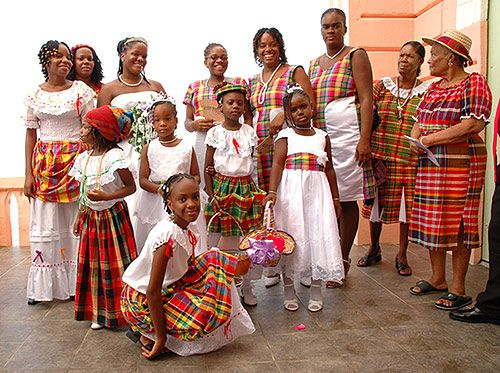 The Folk culture of St. Lucia.