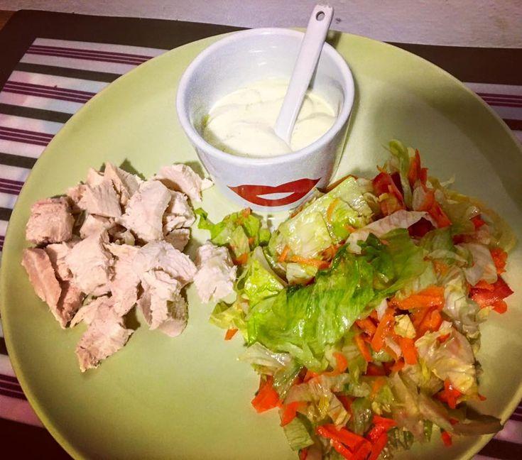 Pollo con Dressing allo yogurt greco