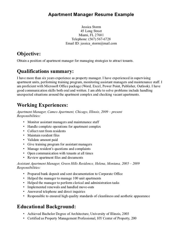 The 25+ best Resident assistant job description ideas on Pinterest - assistant property manager resume sample
