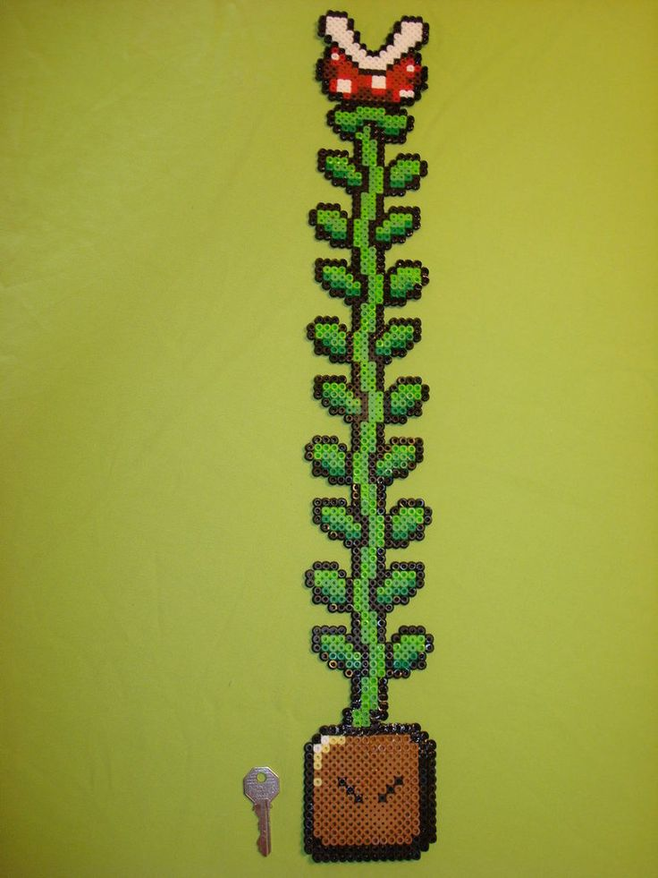 Large Plant Super Mario World Perler & Hama Beads