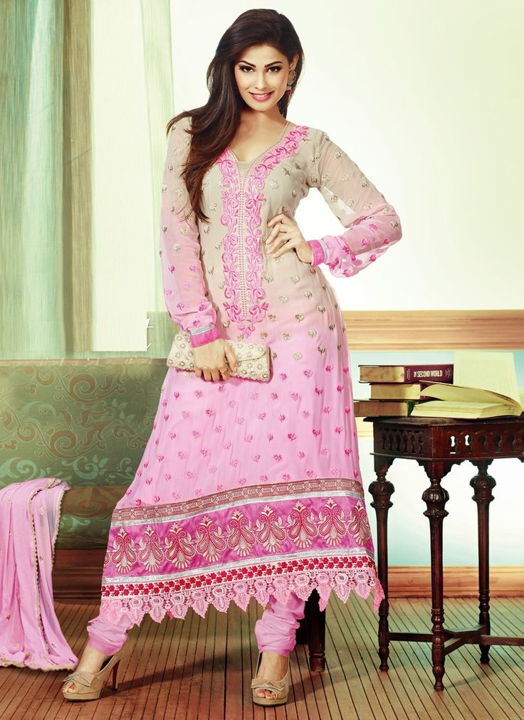 Excellent Floral Patch Pakistani Salwar Kameez Salwar
