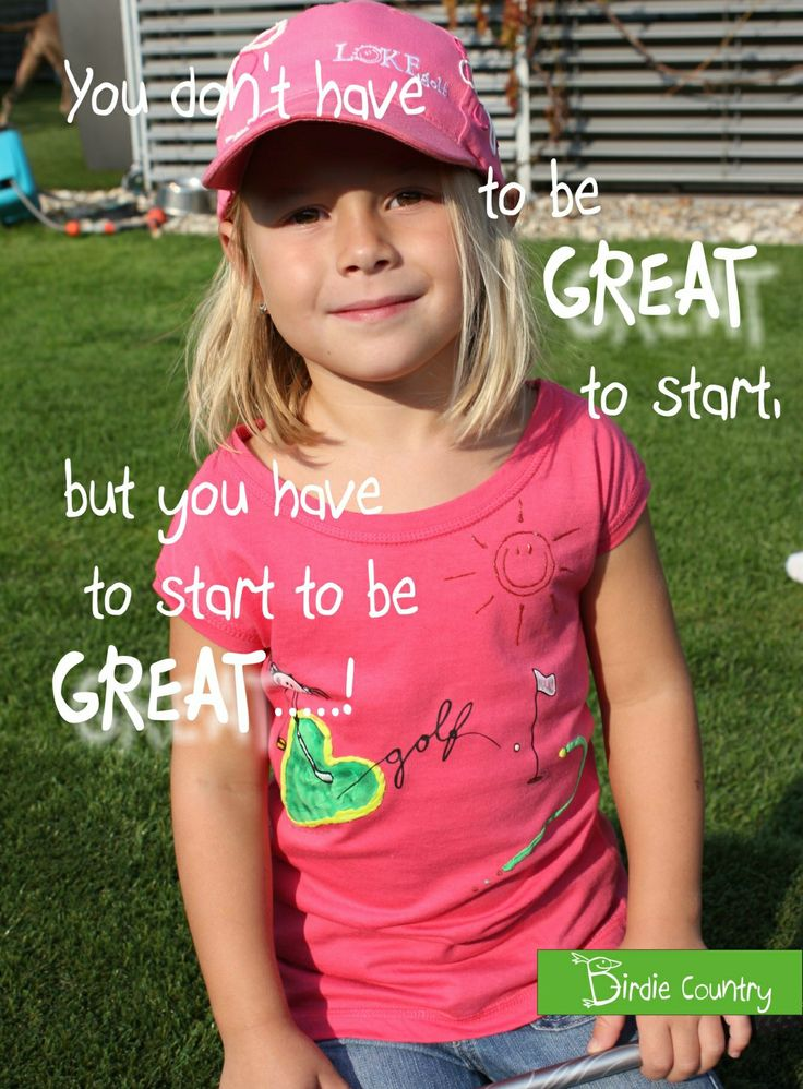 Sweet golf t-shirt for your litle princess.