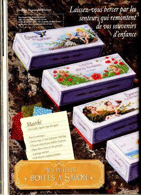 """Belles astuces cardiaques: Point de Croix """"boîtes de savon dans le style français"""""""