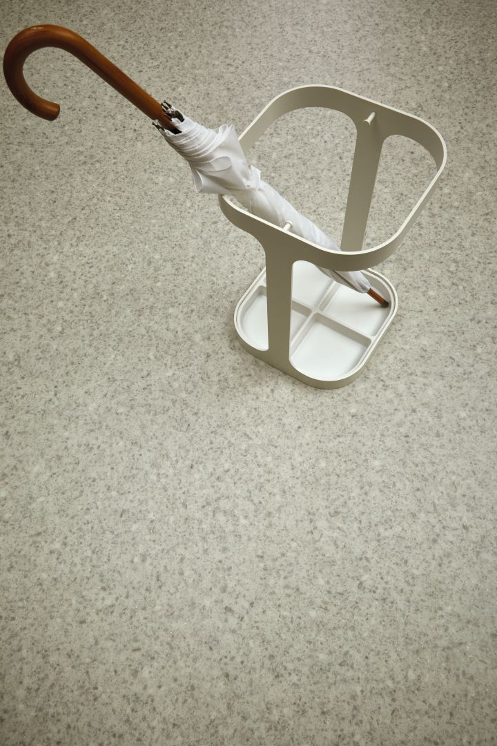 Drip by James Irvine featured in the Forbo Eternal shoot. Photography: Studio de Winter Styling: ThomasE. Creations http://www.van-esch.com/en/products/umbrella-stand/drip