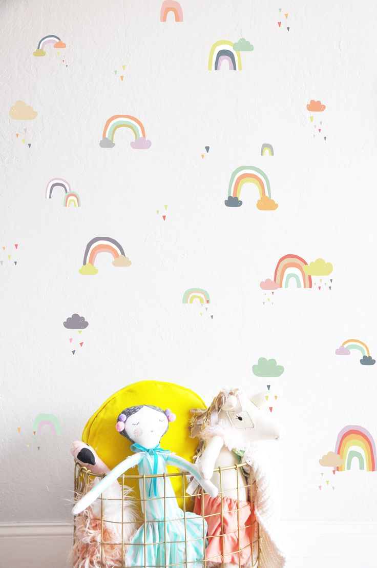 Wees geduldig wall sticker fun walls rainy rainbows colorful compilation wall decal download