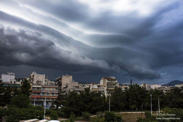 Storm Clouds Descend Upon Thessaloniki, Greece