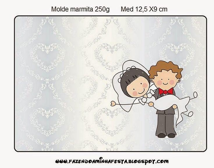 Provenzal en Novios en Caricatura: Etiquetas de Candy Bar para Imprimir Gratis.