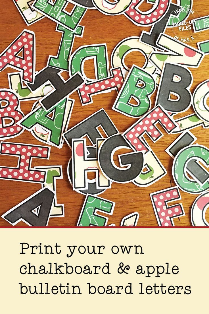 Back To School Bulletin Board Letters Classroom Decor For Middle